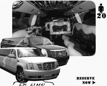 Cadillac Escalade 20 passenger SUV Limousine for rental in Omaha, NE