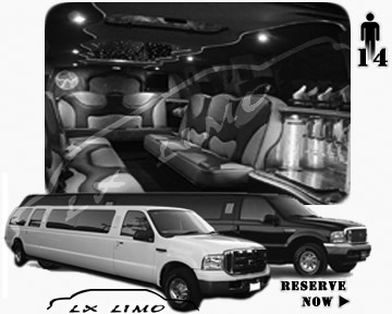 Lincoln Excursion SUV Limo for hire in Omaha, NE