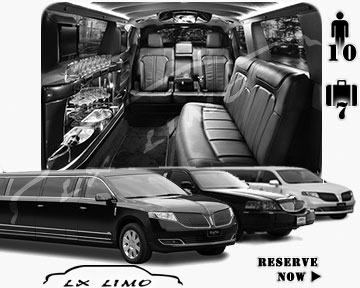 Stretch Limo airport shuttle in Omaha